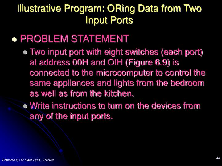 Illustrative Program: ORing Data from Two Input Ports