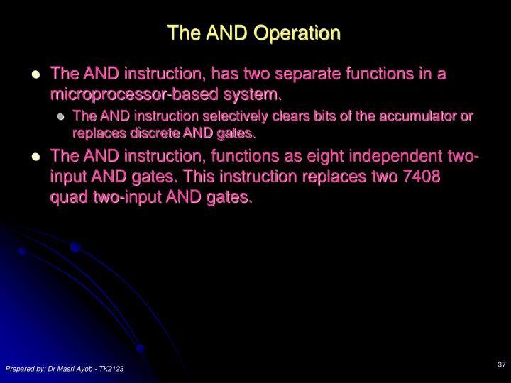 The AND Operation