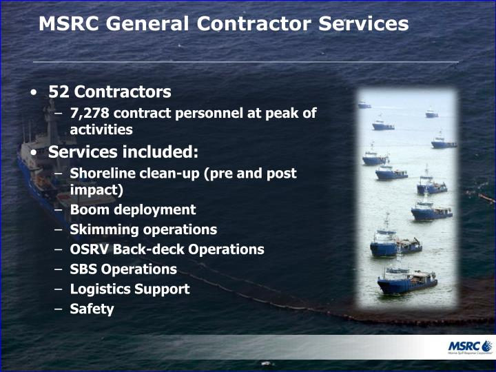 MSRC General Contractor Services