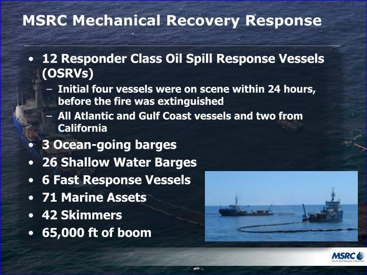 Msrc mechanical recovery response