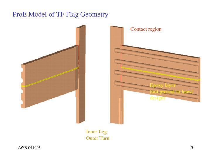 ProE Model of TF Flag Geometry