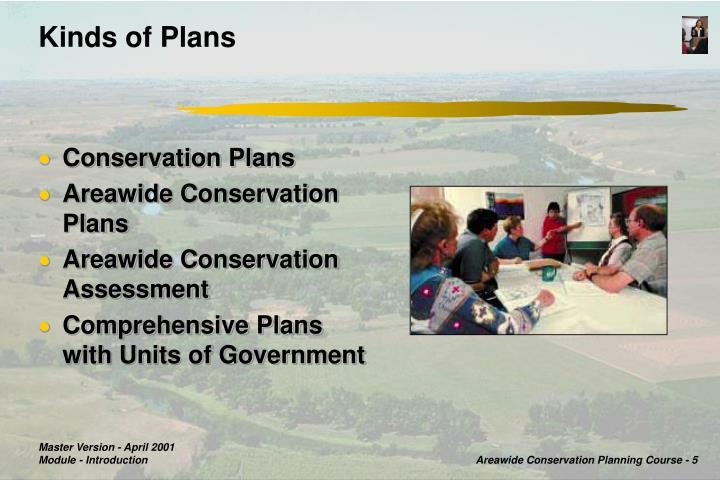 Kinds of Plans