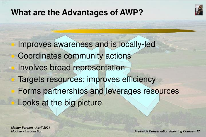 What are the Advantages of AWP?