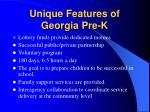 unique features of georgia pre k