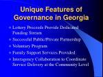 unique features of governance in georgia