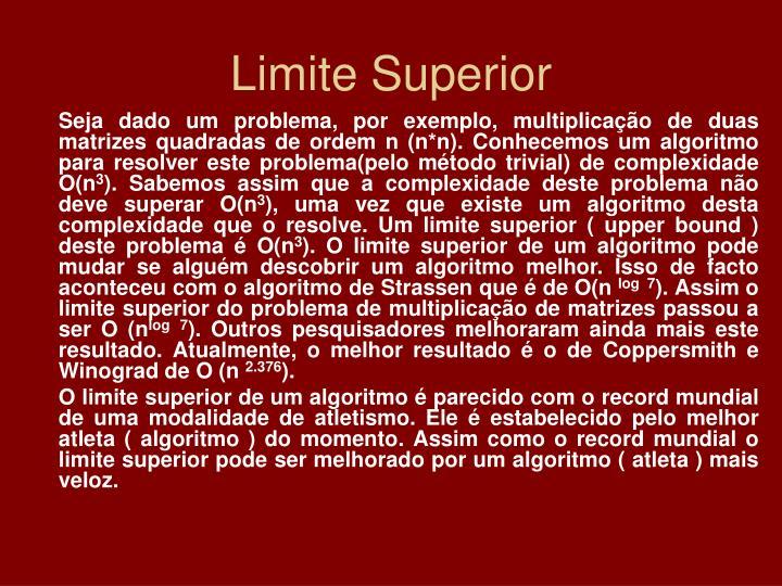 Limite Superior
