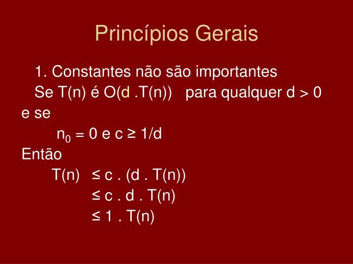 Princípios Gerais