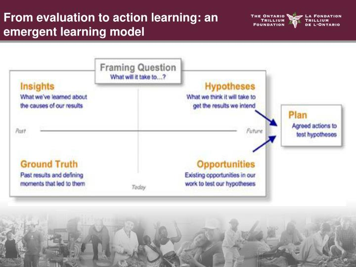 From evaluation to action learning: an emergent learning model
