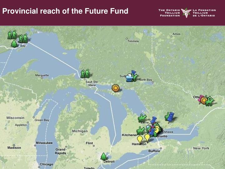 Provincial reach of the Future Fund