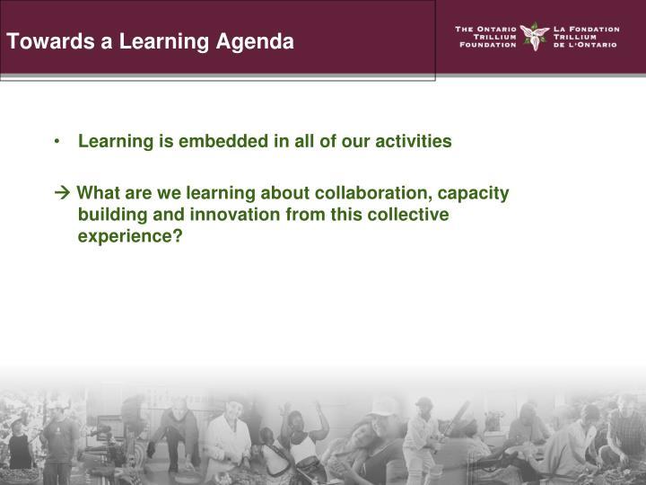 Towards a Learning Agenda