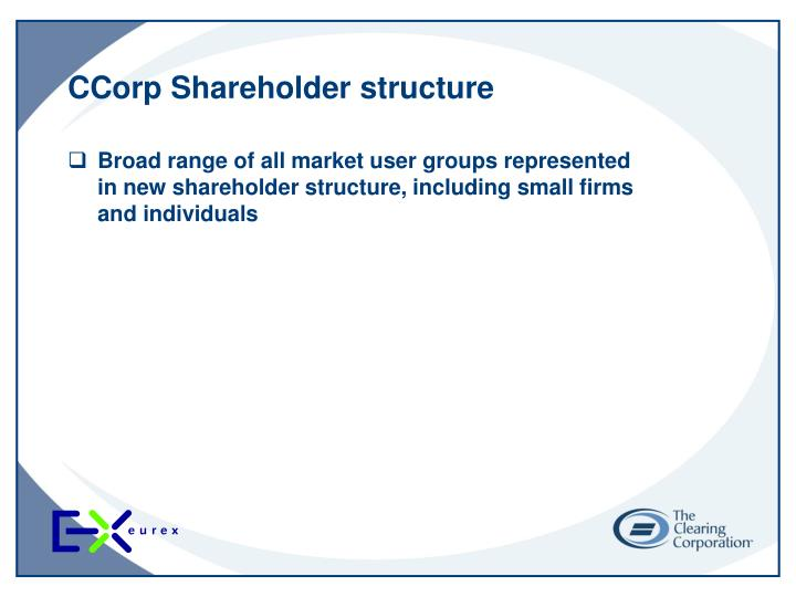 CCorp Shareholder structure