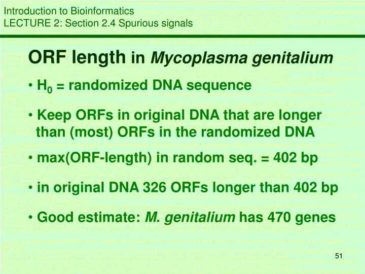 ORF length