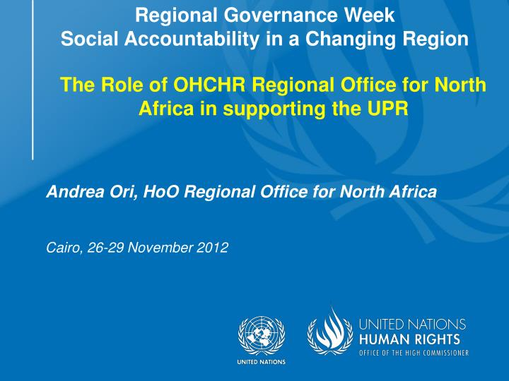 The Role of OHCHR Regional Office for