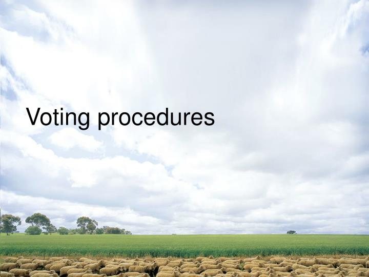 Voting procedures