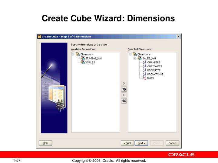 Create Cube Wizard: Dimensions