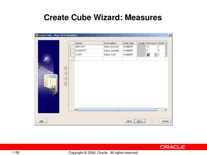 Create Cube Wizard: Measures