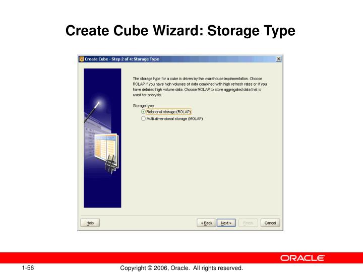 Create Cube Wizard: Storage Type