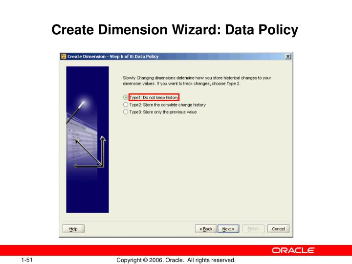 Create Dimension Wizard: Data Policy