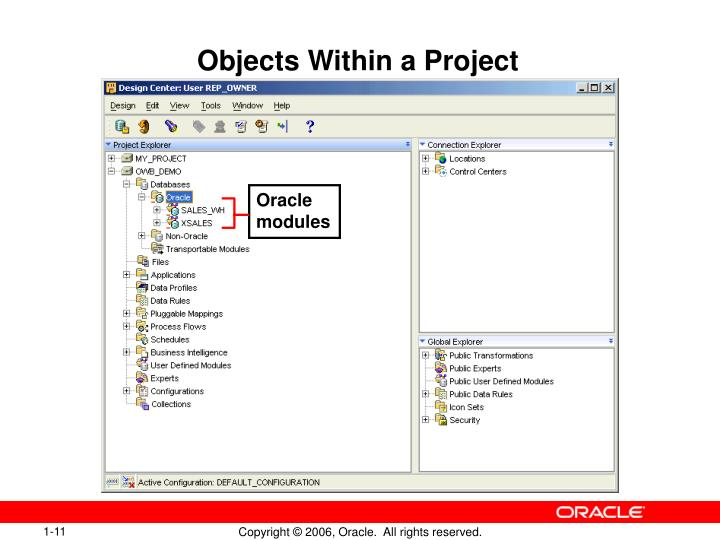 Objects Within a Project