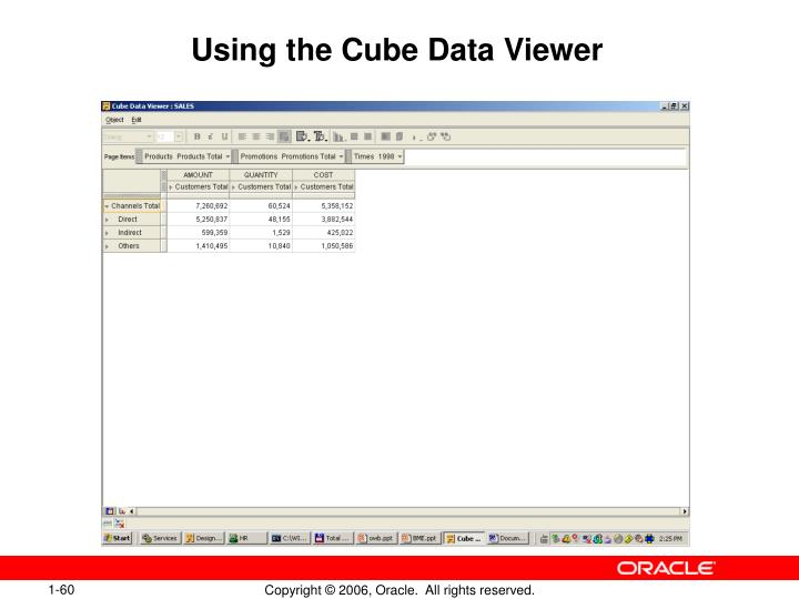 Using the Cube Data Viewer