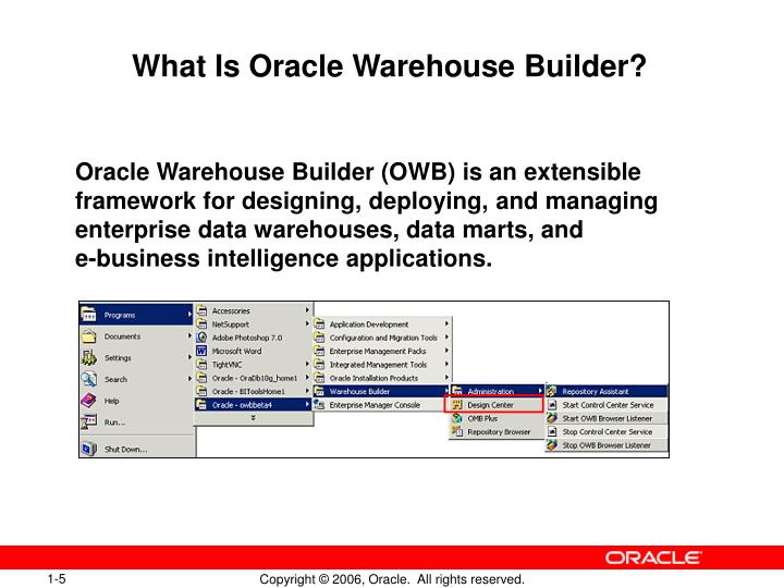 What Is Oracle Warehouse Builder?