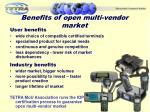 benefits of open multi vendor market