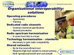 organisational interoperability solutions