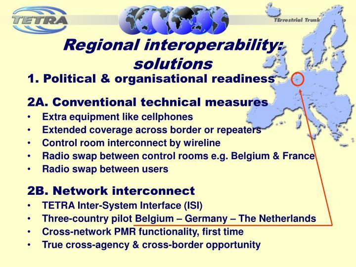 Regional interoperability: solutions