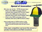 speed of innovation