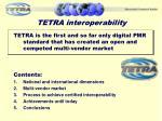 tetra interoperability