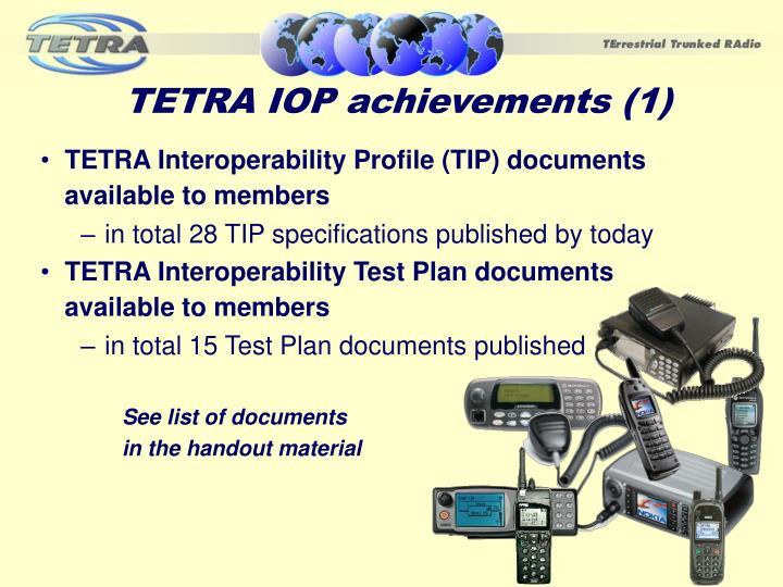 TETRA IOP achievements (1)