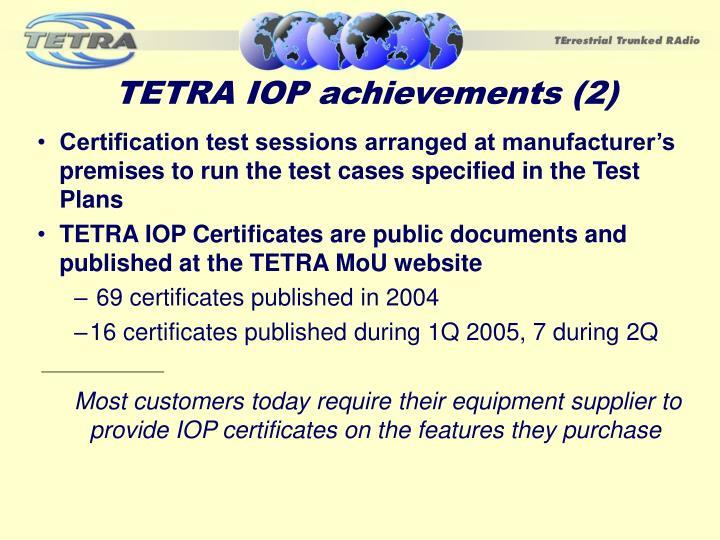 TETRA IOP achievements (2)