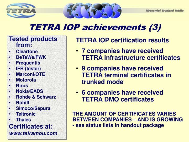 TETRA IOP achievements (3)