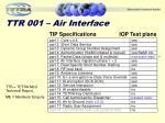 ttr 001 air interface