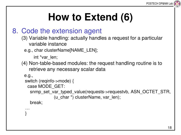 How to Extend (6)