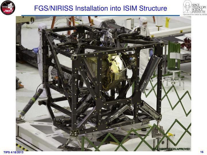 FGS/NIRISS Installation into ISIM Structure