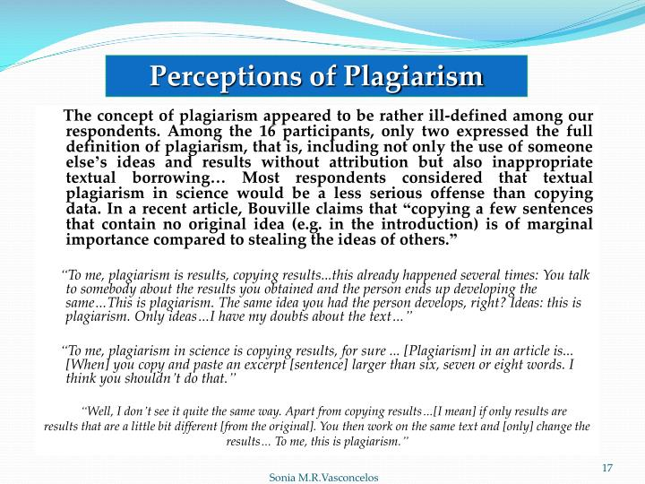 Perceptions of Plagiarism