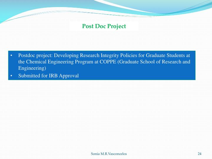 Post Doc Project