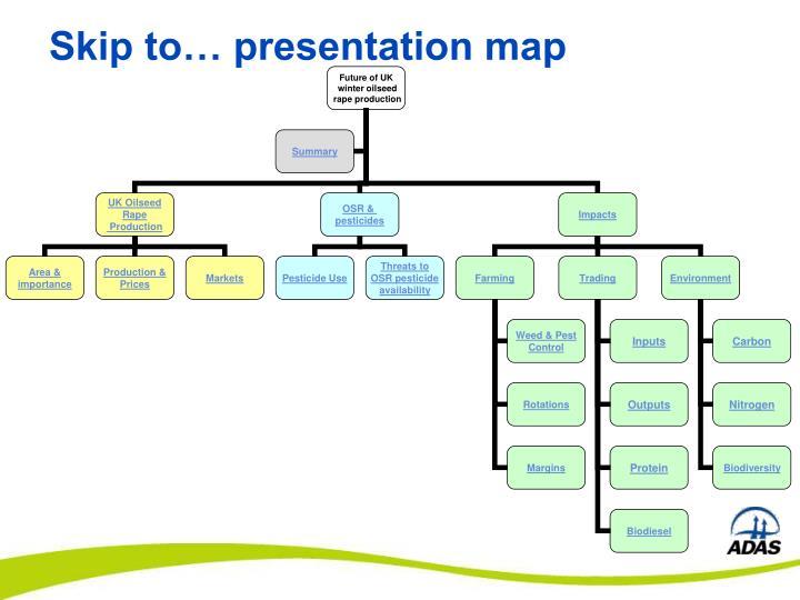 Skip to… presentation map