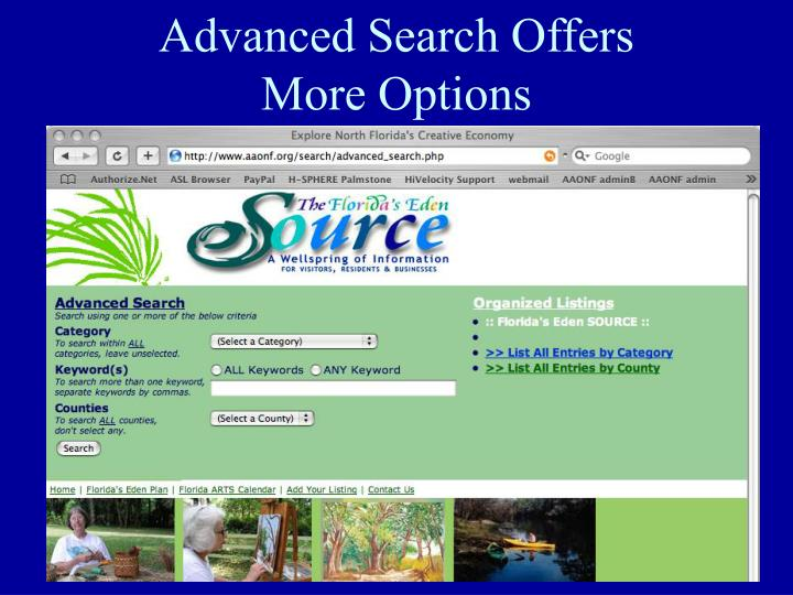 Advanced Search Offers