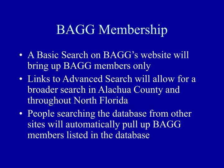 BAGG Membership