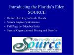 introducing the florida s eden source