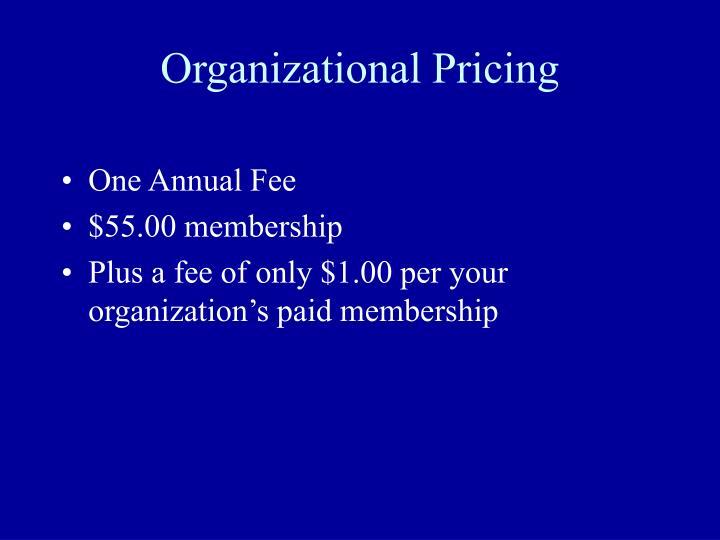 Organizational Pricing