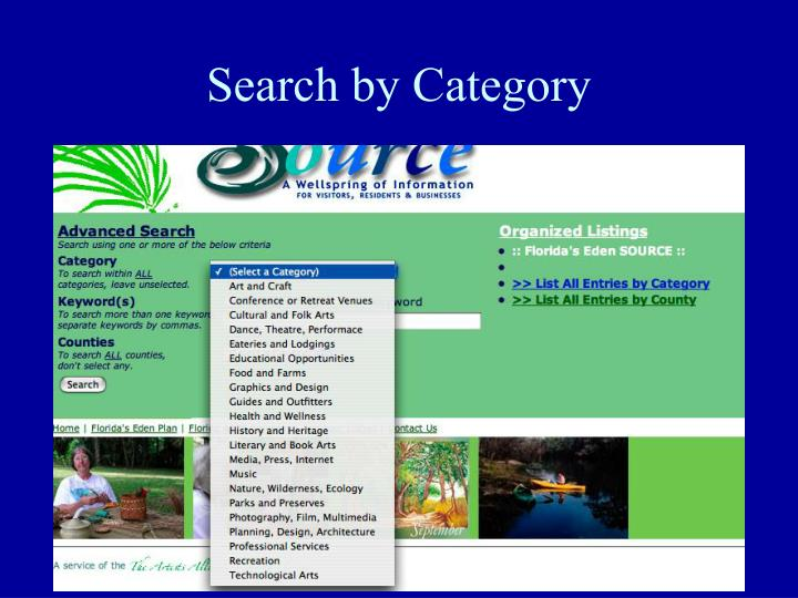 Search by Category