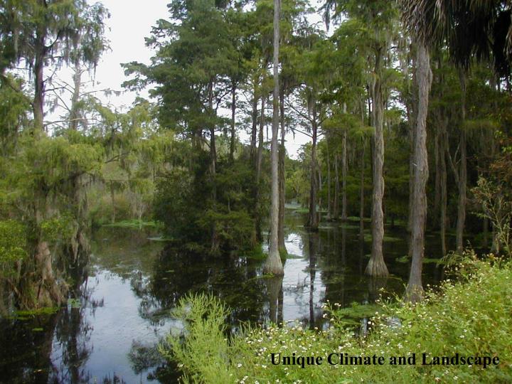 Unique Climate and Landscape
