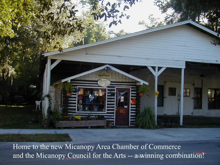 Home to the new Micanopy Area Chamber of Commerce