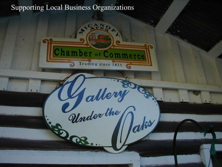 Supporting Local Business Organizations