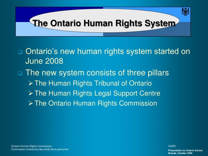 The ontario human rights system