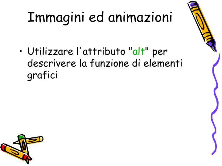 Immagini ed animazioni