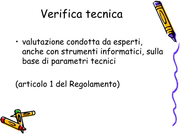 Verifica tecnica
